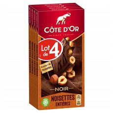 Côte d'Or chocolat noir noisettes 4x180g