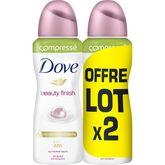 Dove déodorant beauty finish compresse atomiseur 2x100ml