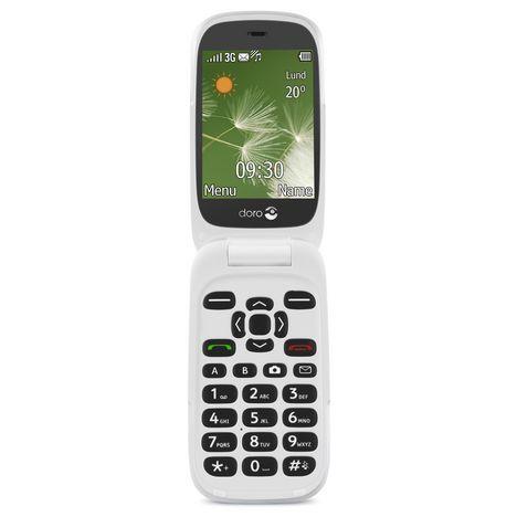 DORO Téléphone mobile - 6520 - Blanc et Champagne