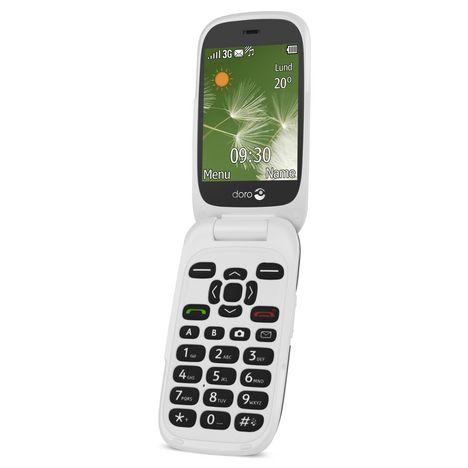 DORO Téléphone mobile - 6520 - Blanc et Graphite