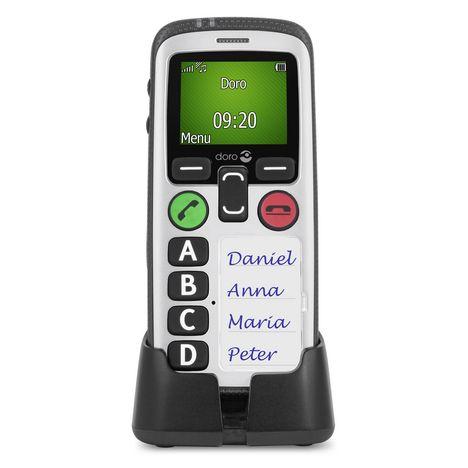 DORO Téléphone mobile - Secure 580 - Blanc et Noir