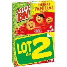 BN Mini biscuits fourrés à la fraise 50 biscuits 2x350g