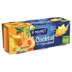 St Mamet cocktail de fruits sirop léger boîte x3 -636g