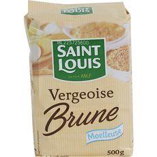 SAINT LOUIS Saint Louis vergeoise brune 500g