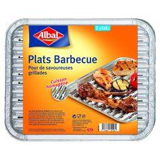 Albal barquette plat aluminium barbecue x3