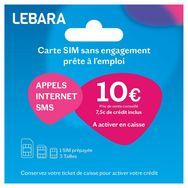 LEBARA Carte SIM Prépayée