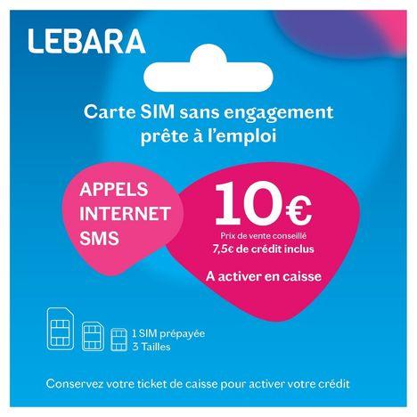 Carte Carrefour Prepayee.Carte Sim Prepayee Sans Abonnement Lebara Pas Cher A Prix Auchan