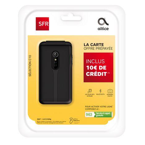 SFR Pack Prepaye Avec Mobile A Clapet Selection C10 Carte Sim
