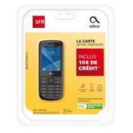 SFR Pack Prépayé avec Mobile Selection K1 Noir & Carte Sim
