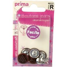 PRIMA Boutons jeans sans couture 5 boutons
