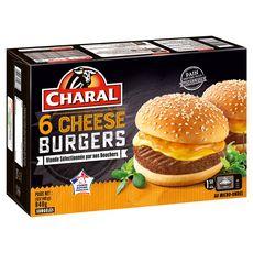 CHARAL Cheeseburger 6 pièces 840g