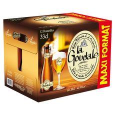 G DE GOUDALE Bière blonde à l'ancienne 7,2% bouteilles 12x33cl