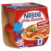 Nestlé ptite recette spaghettis bolognaise 2x200g dès 8 mois