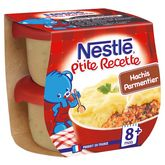 Nestlé ptite recette hachis parmentier 2x200g dès 8mois