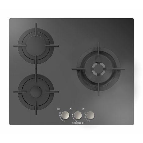 ROSIERES Table de cuisson à gaz RGV63WFMPN - 60 cm, 3 Foyers