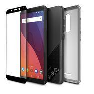 WIKO Pack Smartphone View + Coque + Verre trempé - 16 Go - 5.7 pouces - Noir - Double SIM