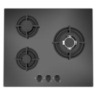 LIMIT Table de cuisson à gaz LIGKVG60B3 - 60 cm, 3 Foyers