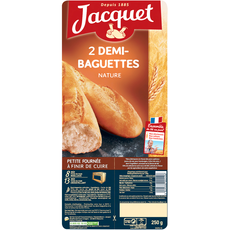 Jacquet Demi-baguettes précuites natures x2