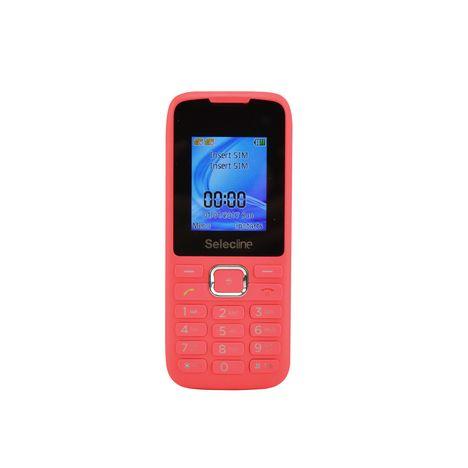SELECLINE Téléphone mobile - Feature phone - Rose - Double SIM