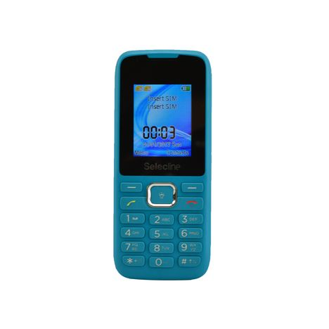 SELECLINE Téléphone mobile - Feature phone - Bleu - Double SIM