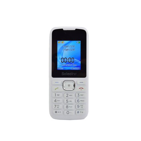 SELECLINE Téléphone mobile - Feature phone - Blanc - Double SIM