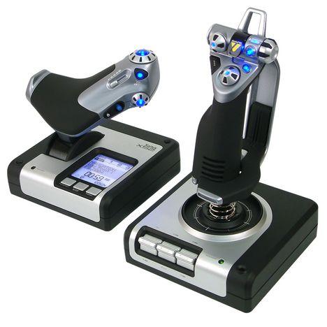 LOGITECH Joystick système de vol pour PC SAITEK X-52