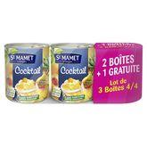 St Mamet cocktail de fruits 4/4 2x850g + 850g gratuits