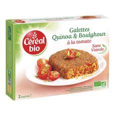 Céréal Bio CEREAL BIO Galettes quinoa et boulghour à la tomate sans viande sans conservateur