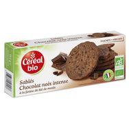 Céréal Bio Céréal Bio Biscuits sablés au chocolat noir intense, sachets fraîcheur 3x4
