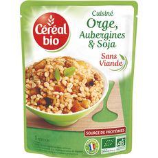 Céréal Bio CEREAL BIO Orge aubergines et soja cuisinés sans viande sans conservateur en poche
