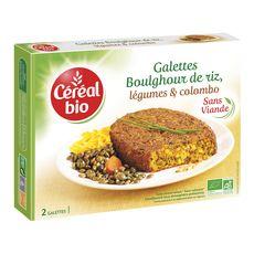 Céréal Bio galette riz légumes et épices colombo 200g