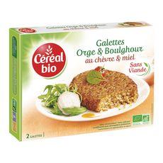 Céréal Bio CEREAL BIO Galettes orge et boulghour au chèvre et miel sans viande sans conservateur