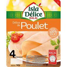 ISLA DELICE Blanc de poulet halal 4 tranches 160g