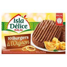 ISLA DELICE Burger à l'oignon halal 10 pièces 800g