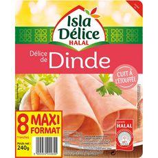 ISLA DELICE Isla Délice blanc de dinde halal 8 tranches 240g 8 tranches 240g