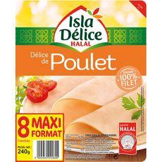 ISLA DELICE Délice de poulet halal 8 tranches 240g