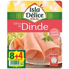 Isla Délice tranches de dinde x8 +4offertes 360g