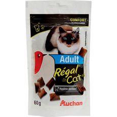 AUCHAN Adult friandises régal'cat hygiène dentaire pour chat 60g
