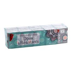 AUCHAN Paquets de mouchoirs blancs 4 épaisseurs 15x9 mouchoirs