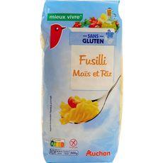 AUCHAN MIEUX VIVRE Auchan Mieux Vivre Fusilli de maïs et riz sans gluten 500g 500g
