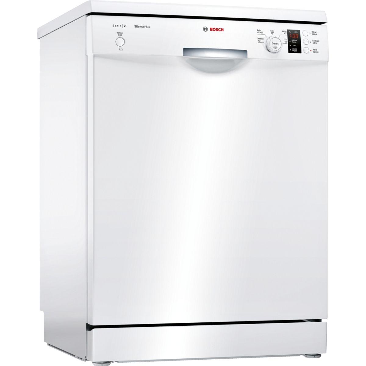Lave-vaisselle pose libre SMS25AW00F - 12 couverts, 60cm, 48dB, 5 programmes