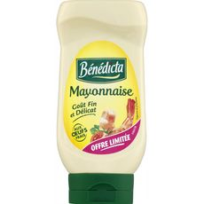 BENEDICTA Bénédicta mayonnaise nature 400g offre découverte