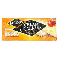 JACOBS Cream crackers, biscuits salés légers et croquants 200g