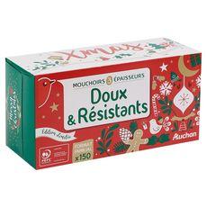AUCHAN Auchan Boîte de mouchoirs blancs 3 épaisseurs x150 150 mouchoirs