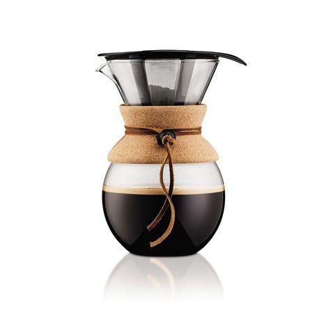 BODUM Cafetière filtre verre et inox POUR OVER 11592-109