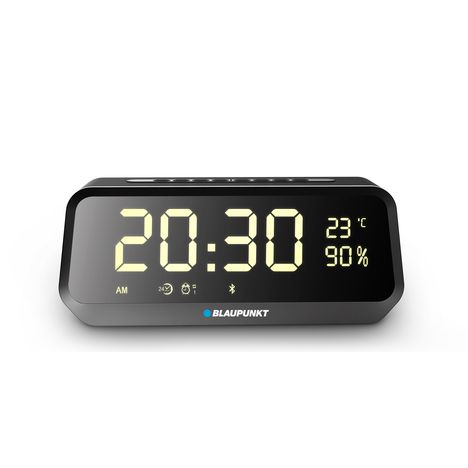 BLAUPUNKT Radio réveil Bluetooth - Noir - BLP 2400