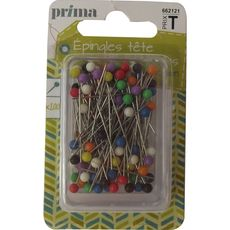 PRIMA Prima épingles tête de couleur x100