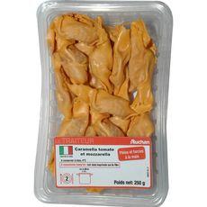 AUCHAN LE TRAITEUR Pâtes Caramella farcies à la tomate et mozzarella 2 personnes 250g
