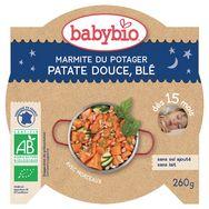 Babybio assiette de patate douce et blé 260g dès 15 mois
