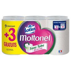 LOTUS Lotus Moltonel Papier toilette blanc sans tube x9+3 offerts x9+3 offerts